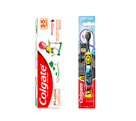 PreviDent toothpaste tube, Colgate total tube, and Colgate Sensitive tube product images
